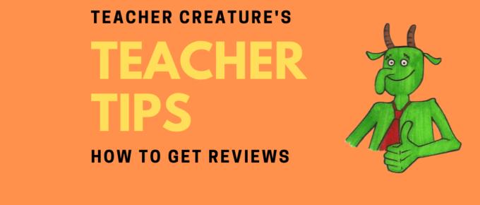 how to get reviews for you teacher profile