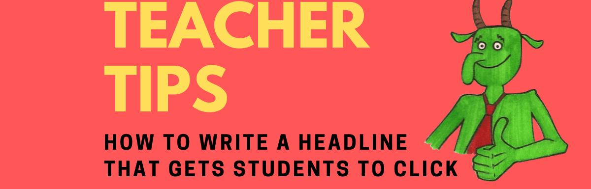 obrázek příspěvku na blogu, jak napsat nadpis profilu učitele